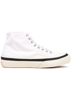 Acne Studios Woman Cotton-canvas High-top Sneakers White