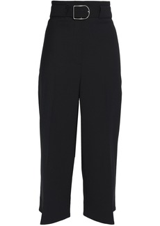 Acne Studios Woman Cropped Belted Twill Straight-leg Pants Black