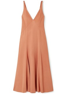 Acne Studios Woman Dalice Open-back Stretch-jersey Midi Dress Orange