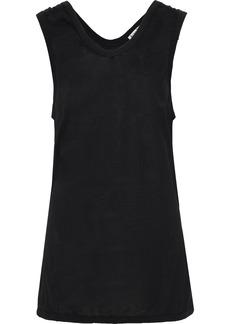 Acne Studios Woman Ellah Asymmetric Slub Jersey Tank Black