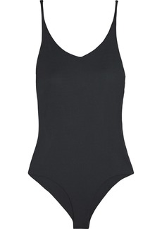 Acne Studios Woman Ellis Open-back Jersey Bodysuit Black