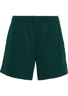 Acne Studios Woman Emanuel Face Appliquéd Jersey Shorts Dark Green
