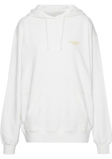 Acne Studios Woman Embroidered French Cotton-terry Hoodie White