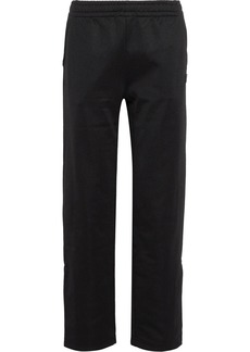 Acne Studios Woman Emmett Face Appliquéd Jersey Track Pants Black