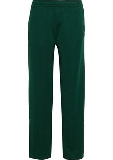 Acne Studios Woman Emmett Face Appliquéd Jersey Track Pants Dark Green