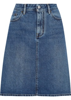 Acne Studios Woman Flared Denim Skirt Blue