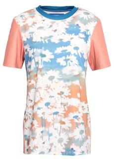 Acne Studios Woman Floral-print Stretch-jersey T-shirt Multicolor