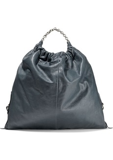 Acne Studios Woman Gathered Leather Tote Anthracite
