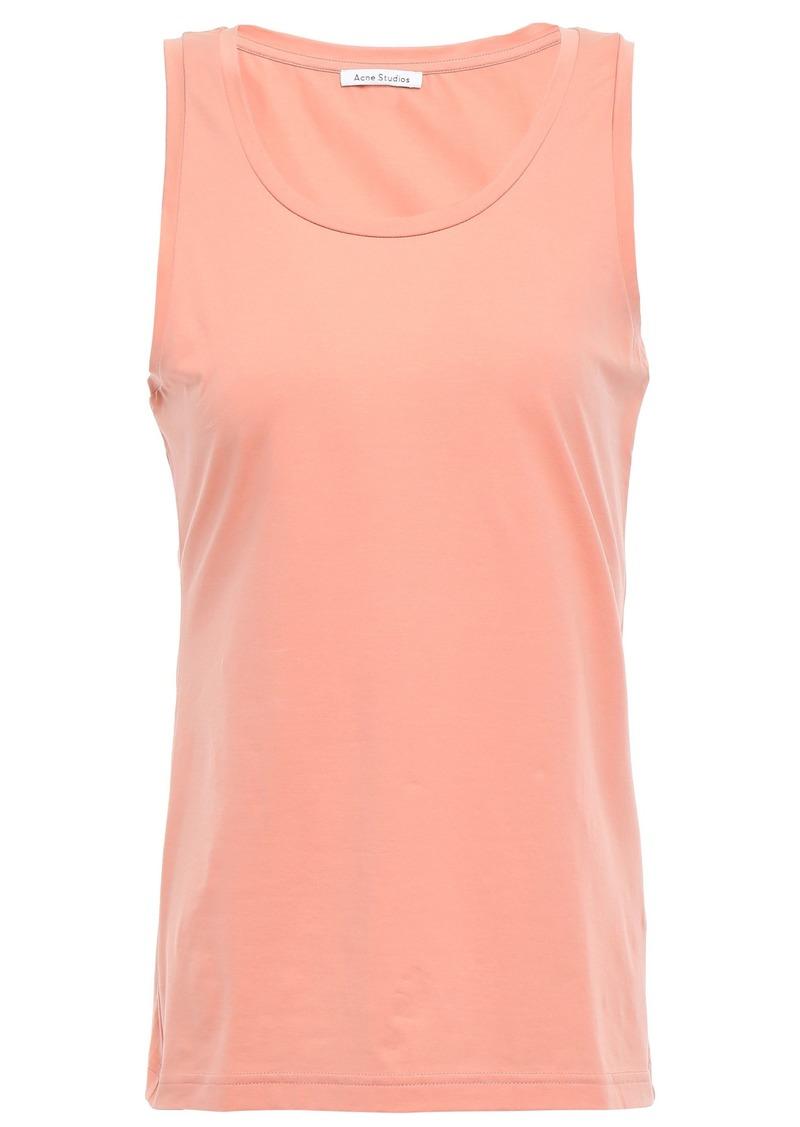 Acne Studios Woman Hennie Stretch Cotton-jersey Tank Blush