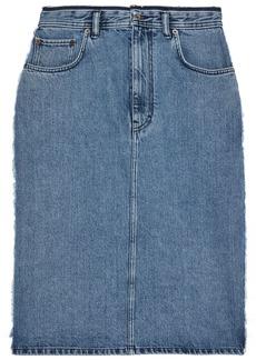 Acne Studios Woman Ilyssia Frayed Denim Skirt Mid Denim