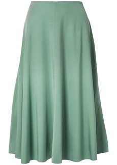 Acne Studios Woman Iphy Fluted Stretch-jersey Midi Skirt Jade