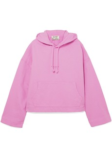 Acne Studios Woman Joghy Cropped Printed French Cotton-terry Hoodie Pink