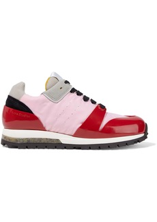 Acne Studios Woman Joriko Suede-trimmed Pvc And Shell Sneakers Pink