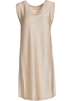 Acne Studios Woman Knitted Mini Dress Beige