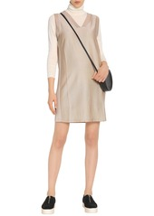 Acne Studios Woman Knitted Mini Dress Beige