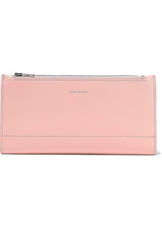 Acne Studios Woman Leather Continental Wallet Pastel Pink