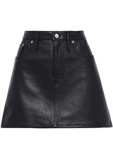 Acne Studios Woman Leather Mini Skirt Black