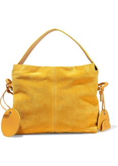 Acne Studios Woman Leather-trimmed Suede Tote Mustard