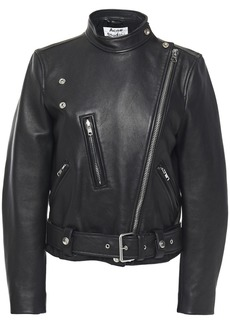 Acne Studios Woman Lewis Leather Biker Jacket Black