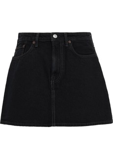 Acne Studios Woman Marika Denim Mini Skirt Black