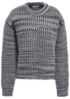 Acne Studios Woman Mélange Knitted Sweater Gray