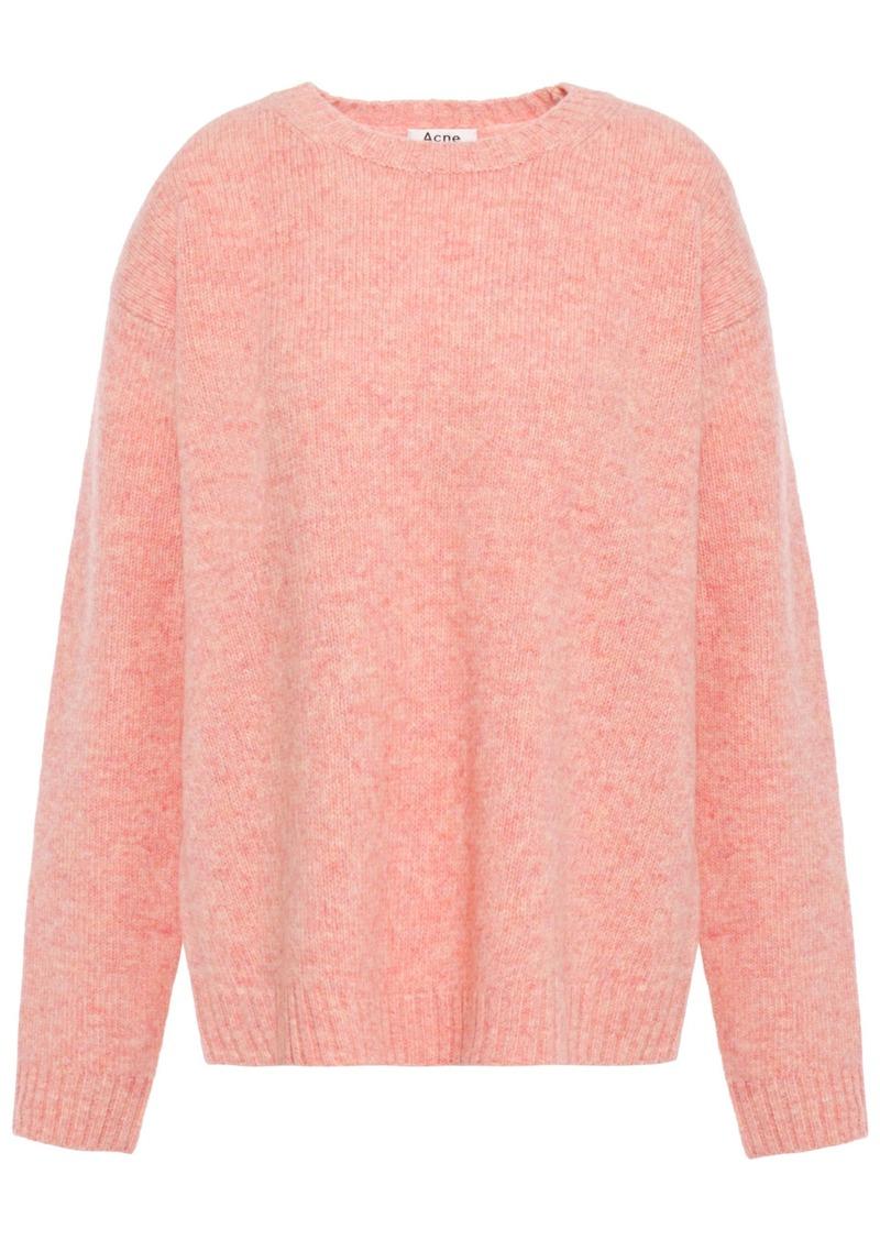 Acne Studios Woman Mélange Wool Sweater Peach