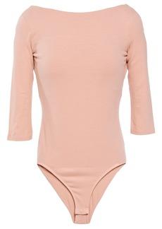 Acne Studios Woman Open-back Stretch-cotton Jersey Bodysuit Blush