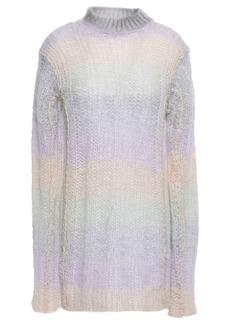 Acne Studios Woman Open-knit Mohair-blend Turtleneck Sweater Multicolor