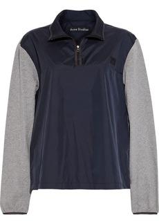 Acne Studios Woman Osric Jersey-paneled Appliquéd Shell Jacket Navy