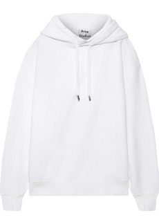 Acne Studios Woman Oversized Cotton-fleece Hoodie White