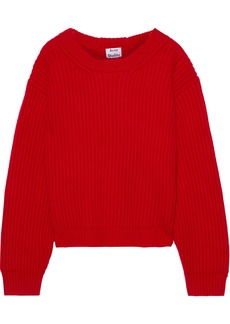 Acne Studios Woman Oversized Ribbed Wool Sweater Red
