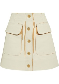 Acne Studios Woman Painted Cotton-drill Mini Skirt Cream