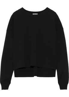 Acne Studios Woman Perty Compact Stretch-knit Top Black