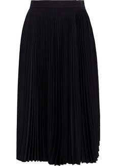 Acne Studios Woman Pleated Crepe Skirt Black