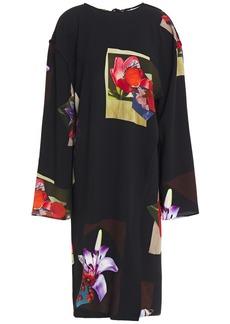 Acne Studios Woman Printed Crepe Dress Black