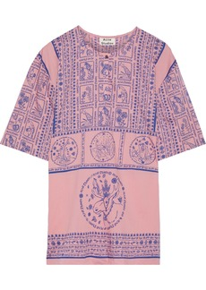Acne Studios Woman Ringoh Printed Cotton-voile Top Pink