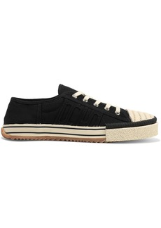 Acne Studios Woman Rubber-trimmed Appliquéd Canvas Sneakers Black