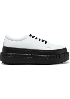 Acne Studios Woman Saddy Leather Platform Sneakers White