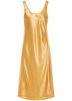 Acne Studios Woman Satin Midi Dress Saffron