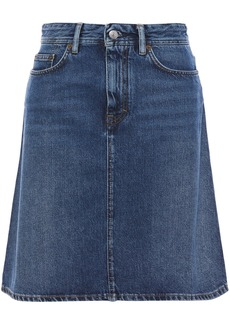Acne Studios Woman Shadow Denim Skirt Dark Denim