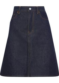Acne Studios Woman Shadow Flared Denim Skirt Dark Denim