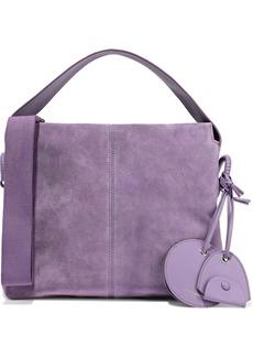 Acne Studios Woman Show Leather-trimmed Suede Shoulder Bag Purple