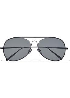 Acne Studios Woman Aviator-style Metal Sunglasses Gunmetal