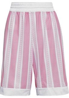 Acne Studios Woman Striped Mesh Shorts White