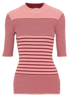 Acne Studios Woman Striped Ribbed Cotton-blend Top Multicolor