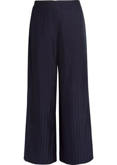 Acne Studios Woman Tennessee Striped Twill Wide-leg Pants Midnight Blue