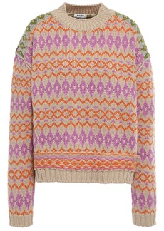 Acne Studios Woman Wool-jacquard Sweater Beige