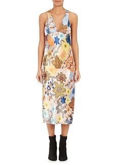 Acne Studios Women's Delila Floral Charmeuse Midi-Dress