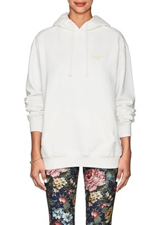 Acne Studios Women's Logo-Embroidered Cotton Hoodie