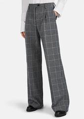 Acne Studios Women's Plaid Cotton-Blend Wide-Leg Trousers